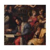 Cosimo Studies the Taking of Siena, 1563-1565 Giclée-Druck von Giorgio Vasari