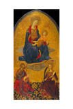 The Adoration of the Virgin and Child by Saint John the Baptist and Saint Catherine Giclée-tryk af Gherardo Starnina