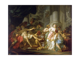 The Death of Seneca Giclee Print by Jacques Louis David