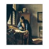The Geographer Giclée-tryk af Johannes Vermeer