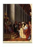 Saint Joseph before the High Priest Giclee Print by Lorenzo Lotto