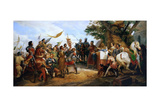 The Battle of Bouvines on 27 July 1214 Giclée-Druck von Horace Vernet