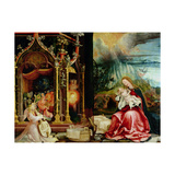 The Isenheim Altarpiece, Central Panel: Concert of Angels and Nativity, 1506-1515 Giclée-tryk af Matthias Grünewald