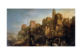 The Capture of Jerusalem by Jacques De Molay in 1299 Giclee-trykk av Claude Jacquand