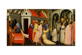 Saint Hugh of Lincoln Exorcises a Man Possessed by the Devil, 1404-1407 Giclée-tryk af Gherardo Starnina