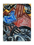 Factory and the Bridge Impressão giclée por Olga Vladimirovna Rozanova