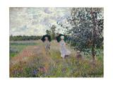 Taking a Walk Near Argenteuil Giclee Print by Claude Monet