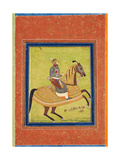 Prince Azam Shah on Horseback Giclée-tryk
