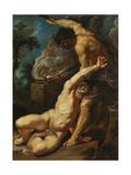 Cain Slaying Abel Giclée-tryk af Peter Paul Rubens