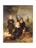 Children's Soldier Games Giclee Print by Johann Baptist Reiter