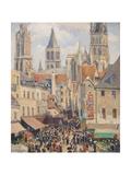 Rue De L'Épicerie, Rouen Reproduction procédé giclée par Camille Pissarro