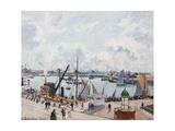 The Outer Harbour of Le Havre, Morning Sun Reproduction procédé giclée par Camille Pissarro