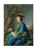 Louise Élisabeth of France (1727-175), Duchess of Parma Giclee Print by Jean-Marc Nattier