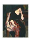 Portrait of Madame Zamaron Reproduction procédé giclée par Suzanne Valadon