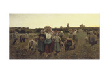 Calling in the Gleaners, 1859 Giclee Print by Jules Breton