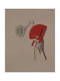 Reciter. Figurine for the Opera Victory over the Sun, 1920-1921 Reproduction procédé giclée par El Lissitzky