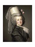 Portrait of Queen Marie Antoinette of France (1755-179) Giclée-tryk af Adolf Ulrik Wertmüller