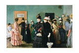 Albertine at the Police Doctor's Waiting Room Giclée-tryk af Christian Krohg
