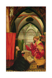 The Isenheim Altarpiece, Left Wing: Annunciation Giclée-tryk af Matthias Grünewald