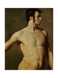 Torse masculin Reproduction procédé giclée par Jean-Auguste-Dominique Ingres