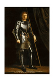Gaston of Foix, Duke of Nemours (Warrior Sain) after Giorgione Giclée-vedos tekijänä Philippe De Champaigne