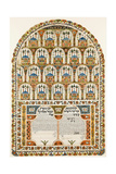 Ketubah (Jewish Marriage Contract), 1843 Giclee Print