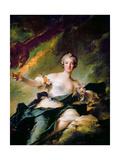 Portrait of Anne-Josèphe Bonnier De La Mosson, Duchesse De Chaulnes as Hebe Giclee Print by Jean-Marc Nattier