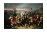 Duke Erich Von Calenberg Rescues Emperor Maximilian in the Battle at Regensburg in 1504 Giclee-trykk av Johann Christian Riepenhausen