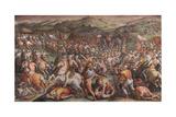 The Battle of Marciano in Val Di Chiana, 1570-1571 Giclée-Druck von Giorgio Vasari