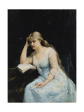 Young Woman Reading Giclee-trykk av Maria Konstantinovna Bashkirtseva
