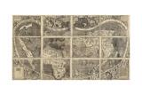 World Map Universalis Cosmographia, 1507 Giclée-Druck von Martin Waldseemüller