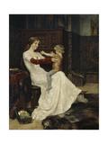 Queen Blanche of Namur Giclée-tryk af Albert Gustaf Aristides Edelfelt