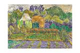 Garden in Soest Gicléetryck av Christian Rohlfs