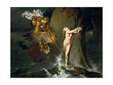 Ruggiero Rescuing Angelica Giclée-Druck von Jean-Auguste-Dominique Ingres