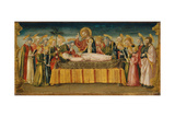The Dormition of the Virgin Giclée-tryk af Neri Di Bicci
