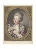 Woman Taking Coffee Lámina giclée por Louis-Marin Bonnet