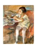 Breakfast Giclee Print by Jules Pascin
