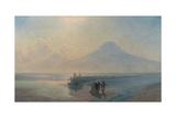 The Descent of Noah from Mount Ararat Giclée-tryk af Ivan Konstantinovich Aivazovsky