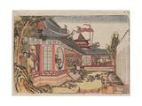 Fan Kuai and the Banquet at Hongmen (Hankai Komon No Kai No Z) Impressão giclée por Katsushika Hokusai
