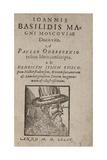 Ioannis Basilidis Magni Moscoviae Ducis Vita (Title Pag) Ivan the Terrible, 1585 Gicléetryck av Paul Oderborn