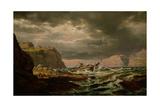 Shipwreck on the Norwegian Coast Giclée-Druck von Johan Christian Clausen Dahl