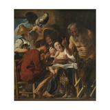 Satyr and Peasant Family Giclee-trykk av Jacob Jordaens