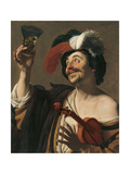 The Happy Violinist Giclee Print by Gerrit van Honthorst