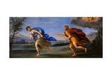 Apollo and Daphne, C. 1615-1620 Giclée-tryk af Francesco Albani