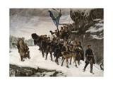 Bringing Home the Body of King Charles XII of Sweden Giclée-tryk af Gustaf Cederström