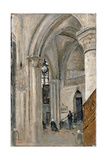 Interior of the Church at Mantes Giclee Print by Jean-Baptiste-Camille Corot