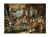 The Expulsion of Heliodorus from the Temple Giclée-tryk af Francesco Solimena