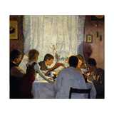 Breakfast Ii. Morning Mood Giclée-Druck von Gustav Wentzel