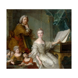 Jean-Marc Nattier and His Family Giclee Print by Jean-Marc Nattier