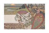Volga Svyatoslavich Giclee-trykk av Ivan Yakovlevich Bilibin
